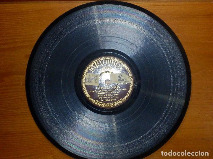 Discos de pizarra: Disco de Pizarra - Tenor Juan García - Pregon y Raconto del Riojano- La Moza Vieja- Parlophon 26.055 - Foto 4 - 116711631