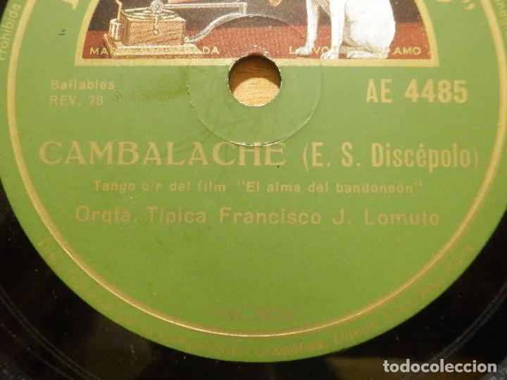 Discos de pizarra: Disco de Pizarra - Banda Sonora El Alma del Bandoneon - Orq. Francisco J Lomuto -Gramófono 86.739 - Foto 2 - 141333950