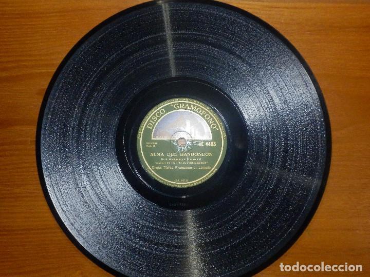 Discos de pizarra: Disco de Pizarra - Banda Sonora El Alma del Bandoneon - Orq. Francisco J Lomuto -Gramófono 86.739 - Foto 4 - 141333950