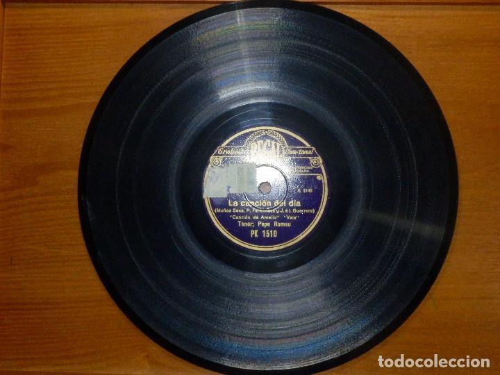 Discos de pizarra: Disco de Pizarra - Tenor Pepe Romeu - La Canción del Día - Amalio, Estrella - Regal PK 15 0 - Foto 4 - 116714547