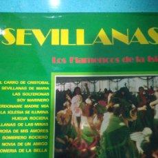 Discos de pizarra: SEVILLANAS LOS FLAMENCOS DE LA ISLA JYMPO 1974. Lote 116726198