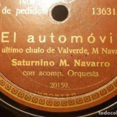 Discos de pizarra: DISCO DE PIZARRA - SATURNINO M. NAVARRO - EL AUTOMOVIL - SANTA MARIA, CANTO ASTURIANO. Lote 116838983