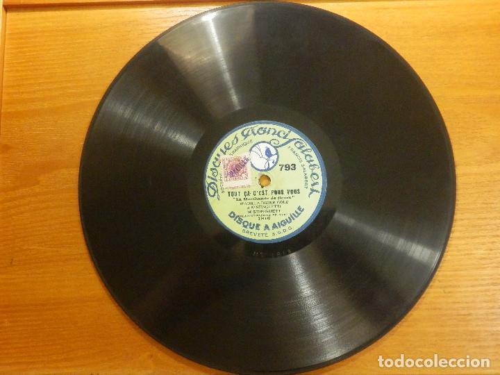 Discos de pizarra: Disco de Pizarra Gramófono - Mistinguett -Tout ça cest pour vou - On M´Suit - Disque a Aiguille - Foto 3 - 116981867