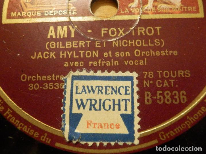 Discos de pizarra: Disco de Pizarra Gramófono - JACK HILTON - AMY - OH, WHAT A SILLY PLACE TO KISS A GIRL - FOX-TROT - Foto 2 - 116985727