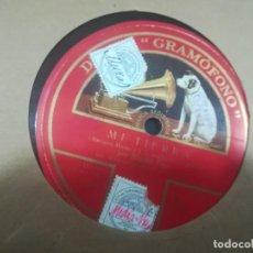 Discos de pizarra: MIGUEL FLETA ADIOS TRIGUEÑA Y MI TIERRA. Lote 117556635