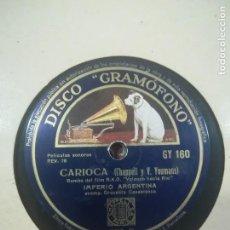 Discos de pizarra: IMPERIO ARGENTINA- CARIOCA Y ROMANZA RUSA. Lote 117602851