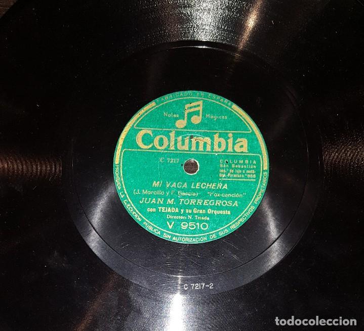 DISCOS 78 RPM - JUAN M. TORREGROSA - TEJADA - GRAN ORQUESTA - PIZARRA (Música - Discos - Pizarra - Solistas Melódicos y Bailables)