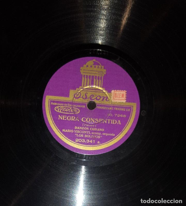 DISCOS 78 RPM - MARIO VISCONTI - ORQUESTA LOS BOLIVIOS - TANGO - PIZARRA (Música - Discos - Pizarra - Solistas Melódicos y Bailables)
