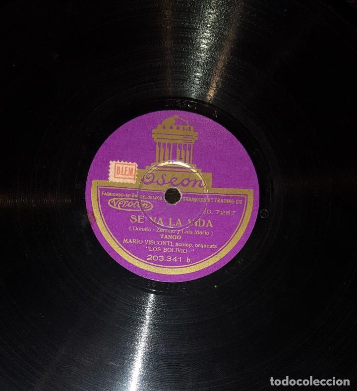 Discos de pizarra: DISCOS 78 RPM - MARIO VISCONTI - ORQUESTA LOS BOLIVIOS - TANGO - PIZARRA - Foto 2 - 117606231