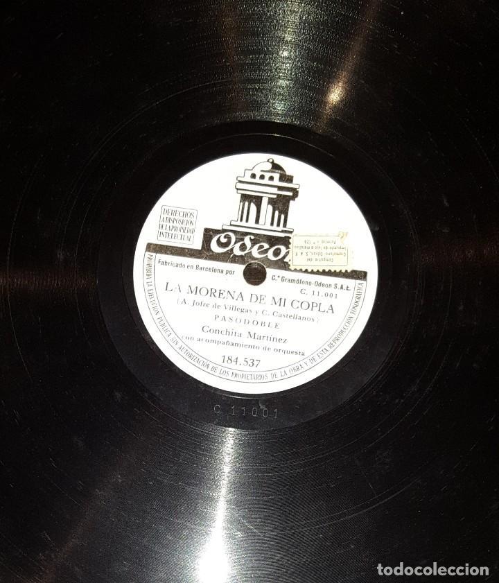 DISCOS 78 RPM - CONCHITA MARTÍNEZ - ORQUESTA - PASODOBLE - LA MORENA DE MI COPLA - PIZARRA (Música - Discos - Pizarra - Flamenco, Canción española y Cuplé)