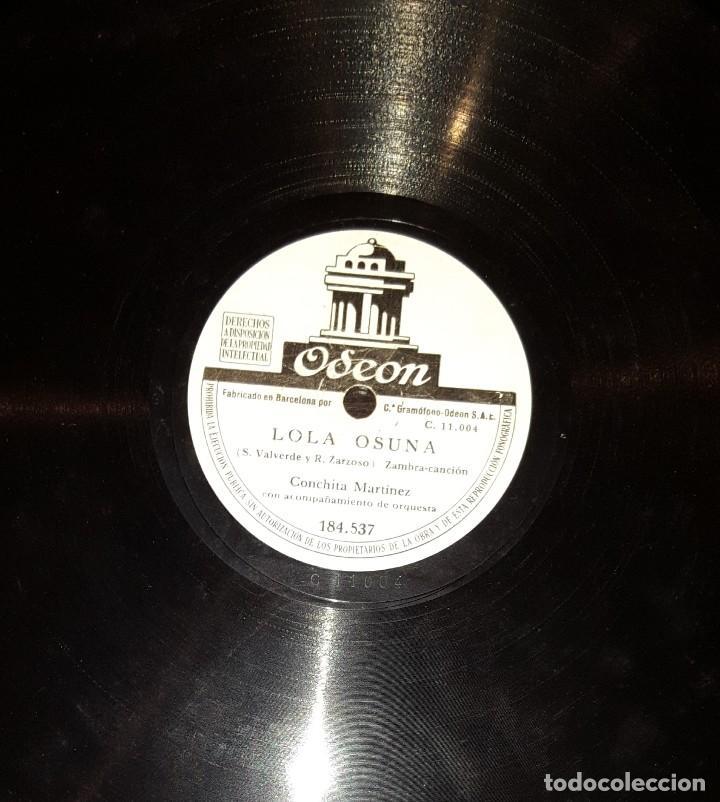 Discos de pizarra: DISCOS 78 RPM - CONCHITA MARTÍNEZ - ORQUESTA - PASODOBLE - LA MORENA DE MI COPLA - PIZARRA - Foto 2 - 117612427