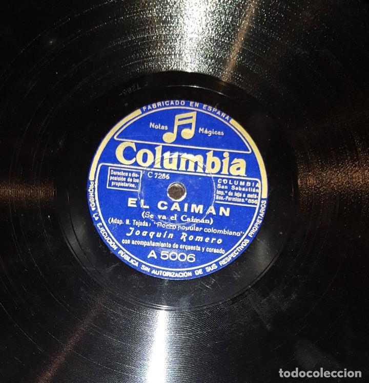 Discos de pizarra: DISCOS 78 RPM - JOAQUÍN ROMERO - PORRO POPULAR COLOMBIANO - EL CAIMÁN - PIZARRA - Foto 2 - 117613087