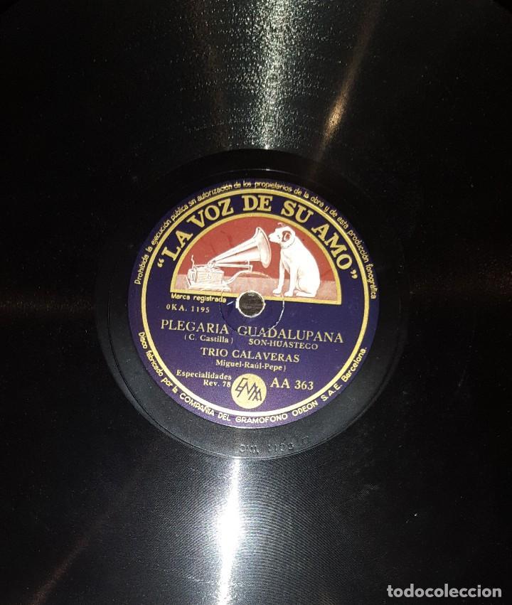 Discos de pizarra: DISCOS 78 RPM - TRÍO CALAVERAS - SON HUASTECO - SON GAROCHO - EL PÁJARO CU - PIZARRA - Foto 2 - 117613875