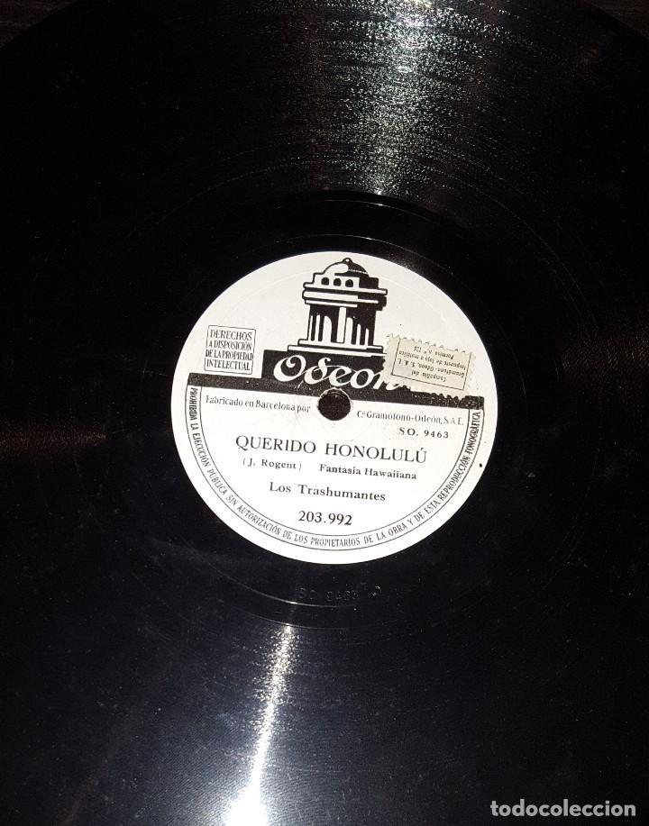 DISCOS 78 RPM - LOS TRASHUMANTES - FANTASÍA HAWAIIANA - SON - PIZARRA (Música - Discos - Pizarra - Solistas Melódicos y Bailables)