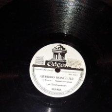 Discos de pizarra: DISCOS 78 RPM - LOS TRASHUMANTES - FANTASÍA HAWAIIANA - SON - PIZARRA. Lote 117617307