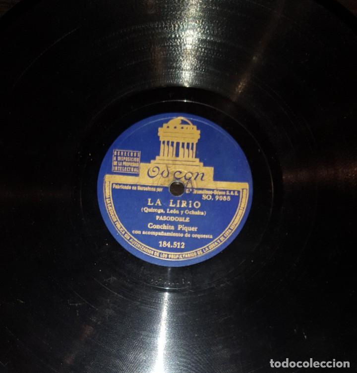 DISCOS 78 RPM - CONCHITA PIQUER - ORQUESTA - LA LIRIO - CANCIÓN DE PUERTO - TATUAJE - PIZARRA (Música - Discos - Pizarra - Flamenco, Canción española y Cuplé)