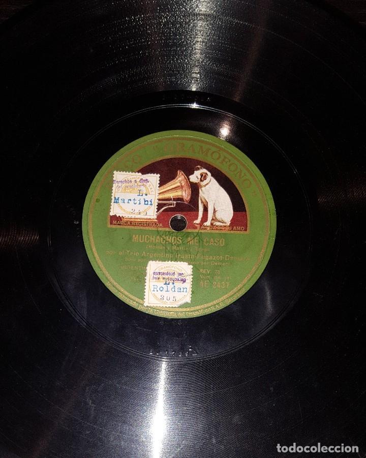 DISCOS 78 RPM - TRÍO IRUSTA FUGAZOT DEMARE - MUCHACHOS ME CASO - LÁGRIMAS - TANGO - PIZARRA (Música - Discos - Pizarra - Solistas Melódicos y Bailables)