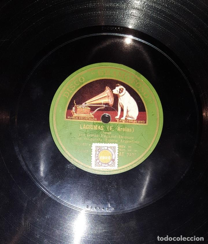 Discos de pizarra: DISCOS 78 RPM - TRÍO IRUSTA FUGAZOT DEMARE - MUCHACHOS ME CASO - LÁGRIMAS - TANGO - PIZARRA - Foto 2 - 117618899