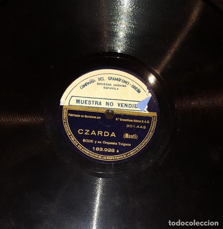 DISCOS 78 RPM - RODE - ORQUESTA TZIGANE - CZARDA - MONTI - LOS OJOS NEGROS - PIZARRA (Música - Discos - Pizarra - Solistas Melódicos y Bailables)