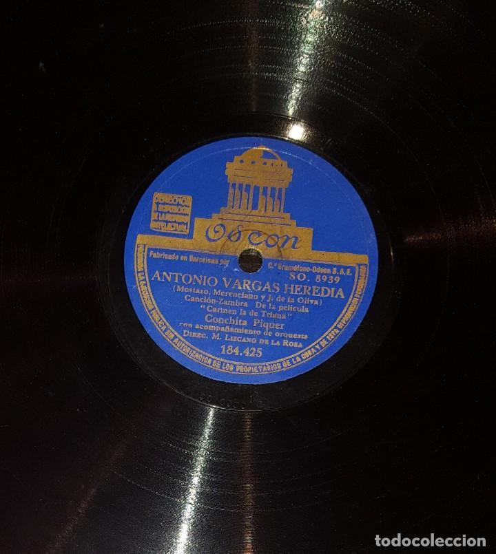 Discos de pizarra: DISCOS 78 RPM - CONCHITA PIQUER - ORQUESTA - CARMEN LA DE TRIANA - PIZARRA - Foto 2 - 117623115