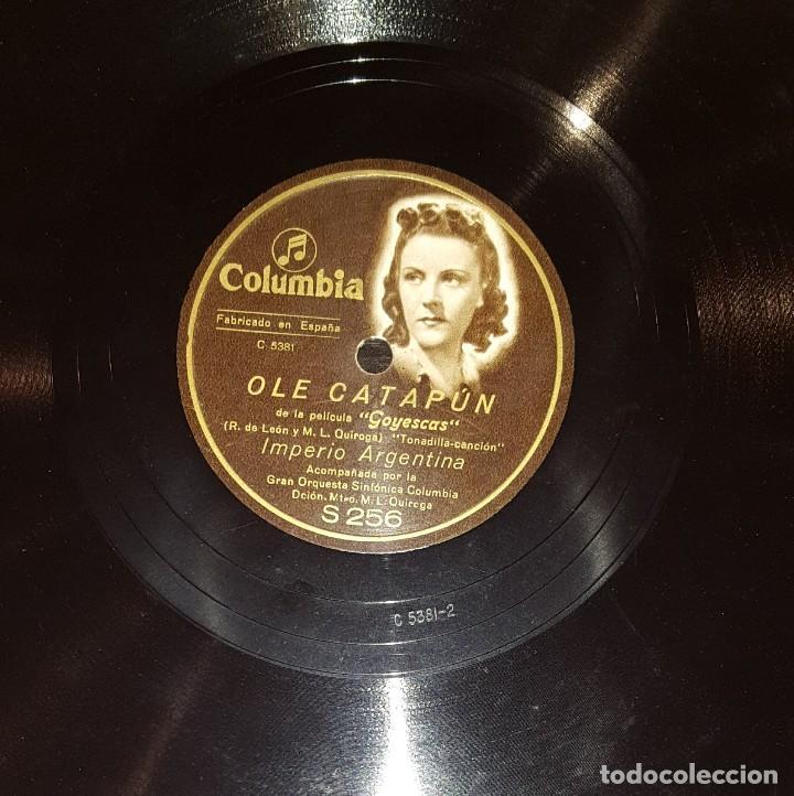DISCOS 78 RPM - IMPERIO ARGENTINA - GRAN ORQUESTA COLUMBIA - GOYESCAS - PIZARRA (Música - Discos - Pizarra - Flamenco, Canción española y Cuplé)