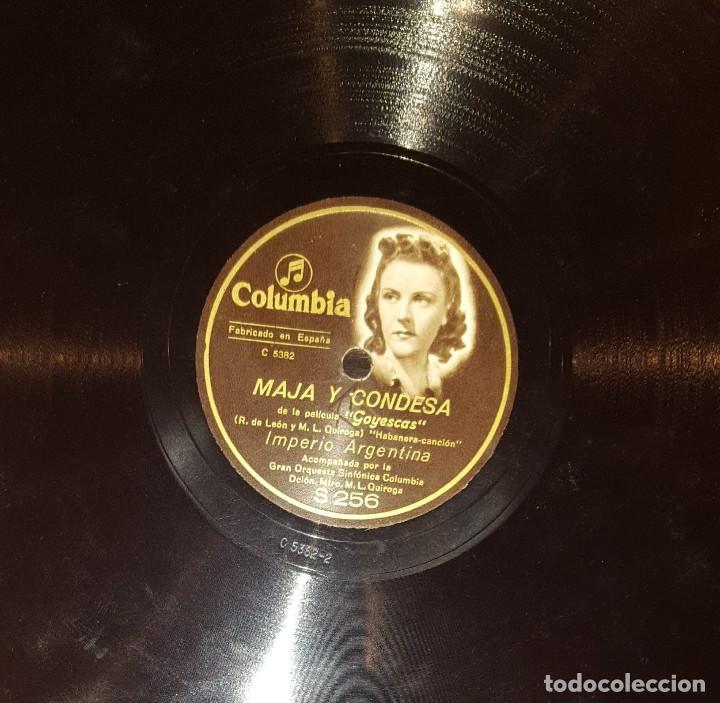 Discos de pizarra: DISCOS 78 RPM - IMPERIO ARGENTINA - GRAN ORQUESTA COLUMBIA - GOYESCAS - PIZARRA - Foto 2 - 117623687