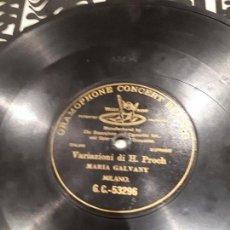 Discos de pizarra: DISCO DE PIZARRA MARIA GALVANY. Lote 103707831