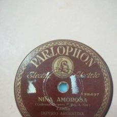 Discos de pizarra: DISCO DE PIZARRA IMPERIO ARGENTINA BLANCA FLOR Y NIÑA AMOROSA. Lote 117901847