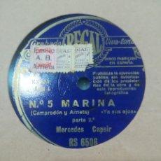Discos de pizarra: DISCO DE PIZARRA MARINA SALIDA DE JORGE 1ª Y 2ª PARTE. Lote 117903395