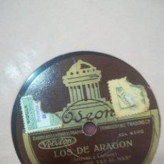 Discos de pizarra: DISCO DE PIZARRA EMILIO VENDRELL LOS DE ARAGÓN Y AGÜITA QUE VAS AL MAR. Lote 117904259
