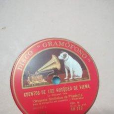 Discos de pizarra: DISCO DE PIZARRA ORQUESTA SINFÓNICA DE FILADELFIA CUENTOS DE LOS BOSQUES DE VIENA Y DANUBIO AZUL. Lote 117907267