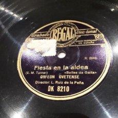 Discos de pizarra: DISCO DE PIZARRA CANCIÓN ASTURIANA. Lote 112051719
