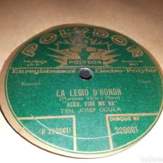 Discos de pizarra: DISCO DE PIZARRA LA LEGIO D 'HONOR. Lote 118016908