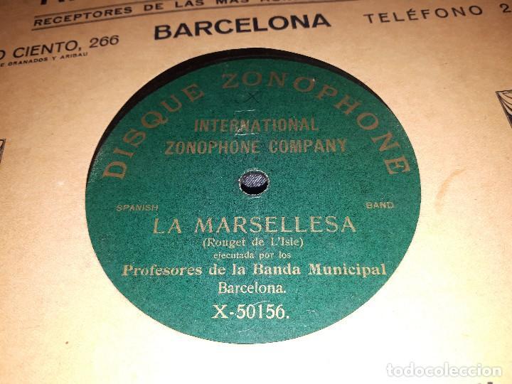 REPUBLICA /LA MARSELLESA DISCO DE PIZARRA GRABADO EN ESPAÑA (Música - Discos - Pizarra - Flamenco, Canción española y Cuplé)