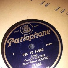 Discos de pizarra: LA FILLA DEL MARXANT DISCO DE PIZARRA JOSÉ MESTRES. Lote 118015875