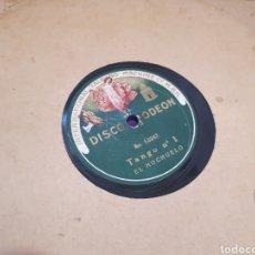 Discos de pizarra: TANGO N,1 EL MOCHUELO DISCO DE PIZARRA. Lote 118044270