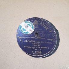 Discos de pizarra: EL ALCALDE DE ZALAMEA DISCO DE PIZARRA. Lote 118045075