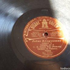 Discos de pizarra: JOTAS ARAGONESAS DISCO DE PIZARRA EL MOCHUELO. Lote 118238094
