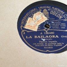 Discos de pizarra: DISCO DE PIZARRA PASTORA IMPERIO.. Lote 118238984