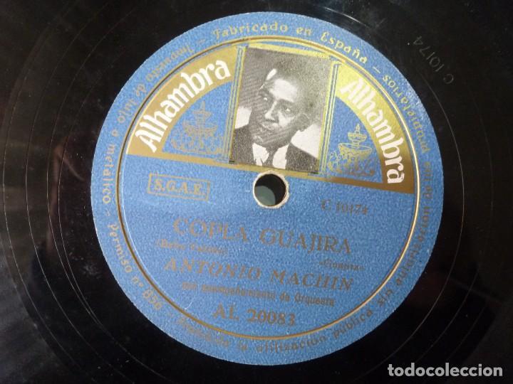 ANTONIO MACHIN - RUEGA POR NOSOTROS / COPLA GUAJIRA (DISCO DE PIZARRA ALHAMBRA) (Música - Discos - Pizarra - Solistas Melódicos y Bailables)