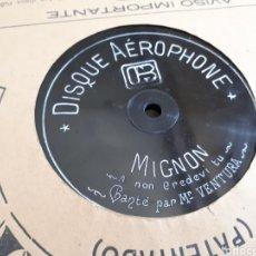 Discos de pizarra: O' SOLE MIO M. VENTURA DISCO DE PIZARRA AEROPHONE. Lote 118242003