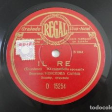 Discos de pizarra: MERCEDES CAPSIR - IL RE, WALTZER / O COLOMBELLO SPOSARTI (GIORDANO) - REGAL D15254. Lote 118517503