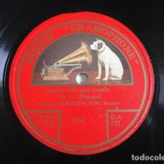 Discos de pizarra: LUCRECIA BORI - IRIS (MASCAGNI) / COSÌ FAN TUTTE (MOZART) - GRAMOPHONE 7-53019. Lote 118593235