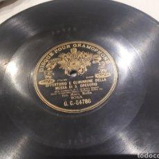 Discos de pizarra: DISCO DE PIZARRA CANTO GREGORIANO. Lote 118722750