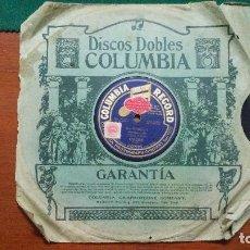 Discos de pizarra: DISCO DE PIZARRA COLUMBIA RECORD TESORO MIO VALS Y LA SORELLA POLKA. MARCIAL RUIZ RIVADAVIA 3097. Lote 118943975