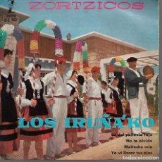 Discos de pizarra: DISCO DE LOS IRUÑA´KO LA DEL PAÑUELO ROJO MAITECHU MÍA . Lote 119029859