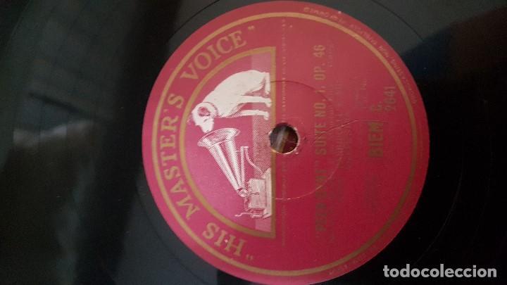 Discos de pizarra: DISCO DE PIZARRA JOHN BARBIROLLI ORCHESTRA PEER CYNT SUITE 1 - Foto 4 - 119078443