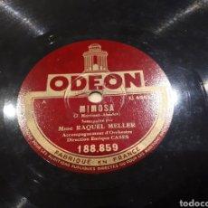 Discos de pizarra: RAQUEL MELLER DISCO DE PIZARRA. Lote 119078830