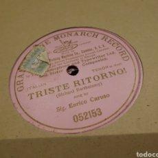 Discos de pizarra: DISCO DE PIZARRA GRAMOPHONE ENRICO CARUSO&. Lote 119468303