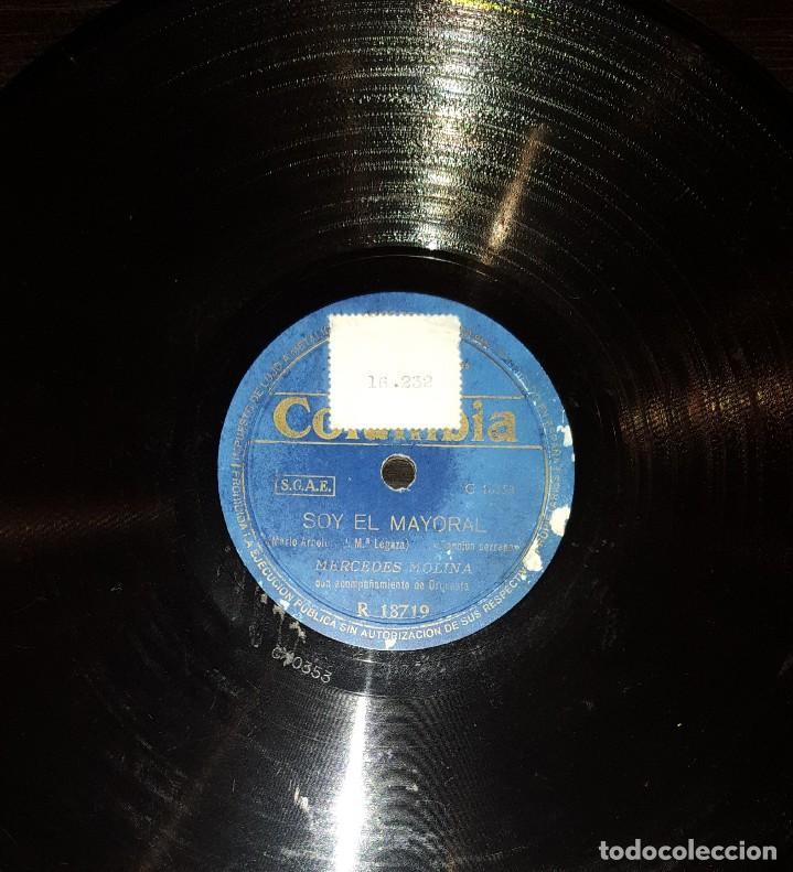 DISCOS 78 RPM - MERCEDES MOLINA - SERRANA - BOLERO CON MALAGUEÑA - PIZARRA (Música - Discos - Pizarra - Flamenco, Canción española y Cuplé)